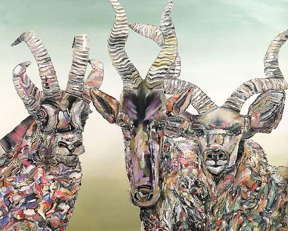interior, antelope, art, animal art, rebels, oilcolor, contemporary art, antiloopit, eläintaide, maalaus, nykytaide
