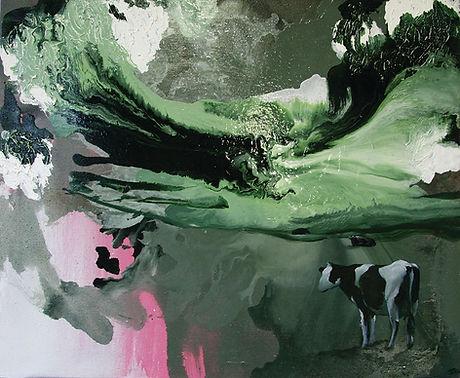 cow, cows, art, painting, oil color, contemporary art, animal art, lehmä, taide, maalaus, eläintaide