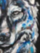 textile painting, textile art, power animals, animal art, tekstiilimaalaus, tekstiilitaide, eläintaide, voimaeläin, susi