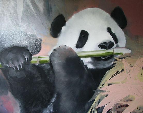 panda, art, painting, maalaus, eläintaide