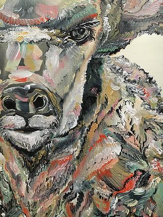 detail, antelope face, antelope, painting, animal art, antilooppi, nykytaide, maalaus