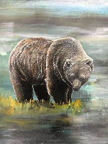 detail, bear, animal art, painting, karhu, maalaus, taide, eläintaide