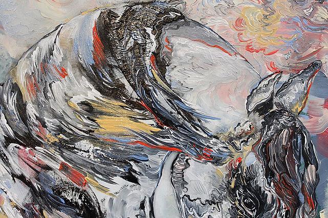 hevonen, sisustus, maalaus, lähikuva, maalaus, taide, horse, painting