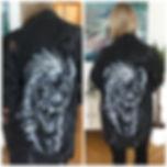 textile painting, textile art, power animals, animal art, tekstiilimaalaus, tekstiilitaide, eläintaide, voimaeläin, hyena, hyeena