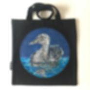 textile painting, textile art, power animals, animal art, tekstiilimaalaus, tekstiilitaide, eläintaide, voimaeläin, duck, sinisorsa
