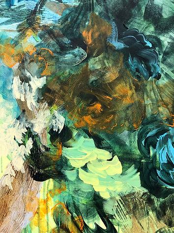 abstrakti taide, abstract art, painting, akryyli, nykytaide, maalaus, metsä, luonnonkierto, taide, lumi saarikoski, suomalainen taide, contemporary painting, yksityiskohta