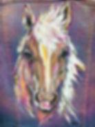 textile painting, textile art, power animals, animal art, tekstiilimaalaus, tekstiilitaide, eläintaide, voimaeläin, hevonen, horse