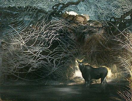 moose, fairytale, painting, art, siren, hirvi, satu, maalaus, taide