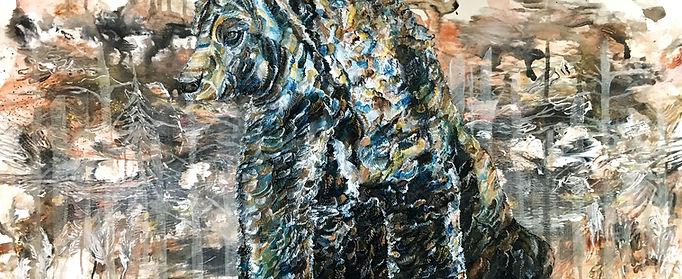 Bear, surreal, painting, art, forest, oilcolor, karhu, taide, maalaus, eläintaide