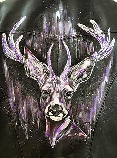 textile painting, textile art, power animals, animal art, tekstiilimaalaus, tekstiilitaide, eläintaide, voimaeläin, kauris, capricorn