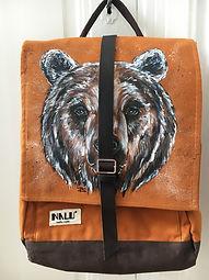 textile painting, textile art, power animals, animal art, tekstiilimaalaus, tekstiilitaide, eläintaide, voimaeläin, bear, karhu