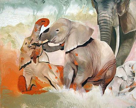 elephant, art, painting, norsu, maalaus, taide, sisustus