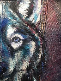 textile painting, textile art, animal art, tekstiilimaalaus, voimaeläin