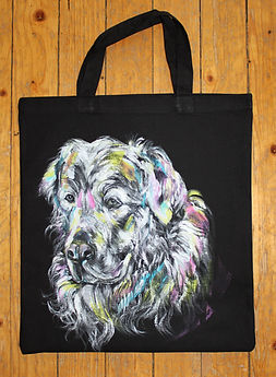 textile painting, textile art, power animals, animal art, tekstiilimaalaus, tekstiilitaide, eläintaide, voimaeläin, dog, kultainen noutaja