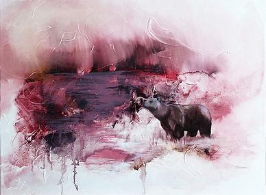 bear, nature, painting, fine art, animal art, swamp, karhu, suo, taide, maalaus