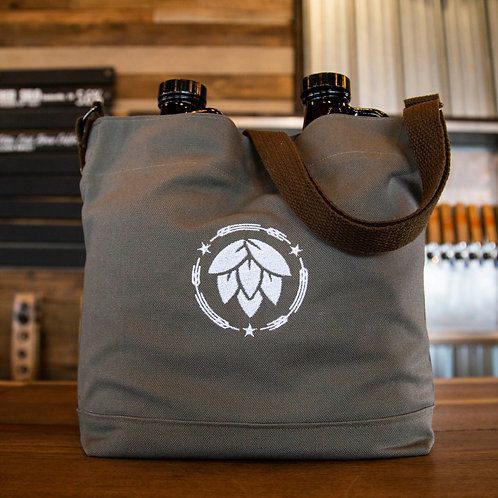 Growler Bag with Hop Icon