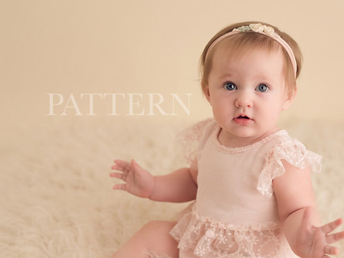 Sitter Prop Sewing Pattern, DIY, Digital Download, Brynlee 2 Piece Sitter Romper