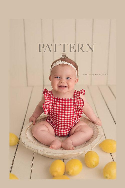 Newborn Prop Sewing Pattern, DIY, Digital Download, Nora Sitter Romper