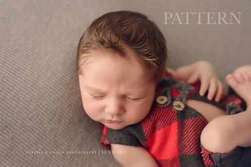 Newborn Prop Sewing Pattern, DIY, Digital Download, Trey Newborn Vest and Pants