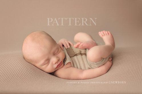 Newborn Prop Sewing Pattern, DIY,  Digital Download, Luke and Laura Newborn Romp