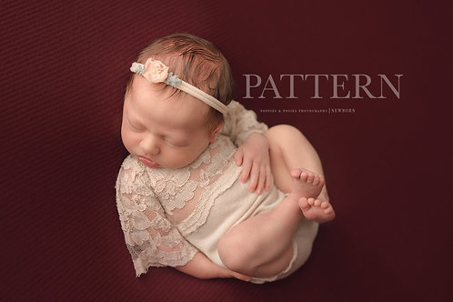 Newborn Prop Sewing Pattern, DIY, Digital Download, Elena Newborn Bell Sleeve Ro