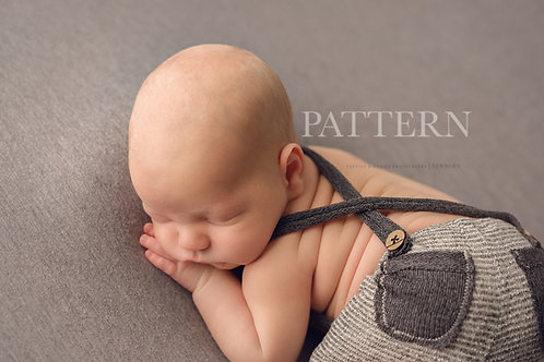 Newborn Prop Sewing Pattern, DIY, Digital Download, William Newborn Suspender Pa