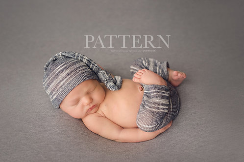Newborn Prop Sewing Pattern, DIY,  Digital Download, Taylor Trio Newborn Pants,