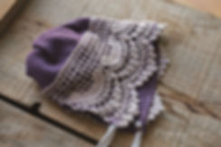 free newborn bonnet pattern
