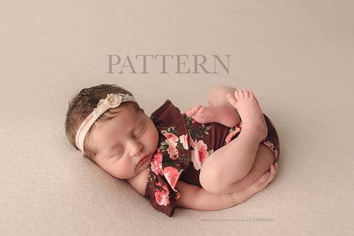 Newborn Prop Sewing Pattern, DIY, Digital Download, Claira Newborn Romper