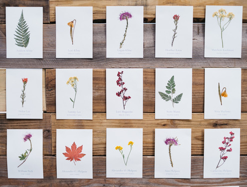 Pressed Wildflower Escort Board