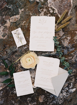 Four Piece Wedding Invitation