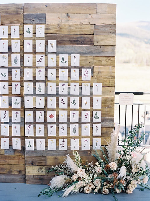 Wildflower Pressed Escort Board