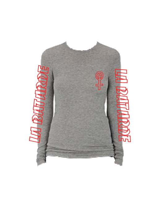 Grey Long-Sleeve Tee
