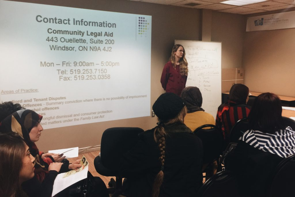 CLA conducted a PLE in conjunction with Windsor Women Working with Immigrant Women on Landlord and T
