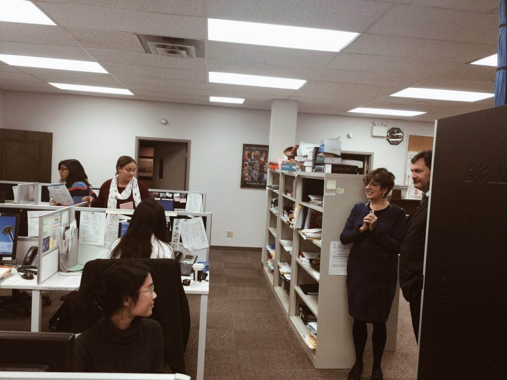 The Honourable SCC Justice R. Wagner touring CLA and LAW