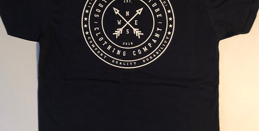 Southern Culture arrow tee front navy blue