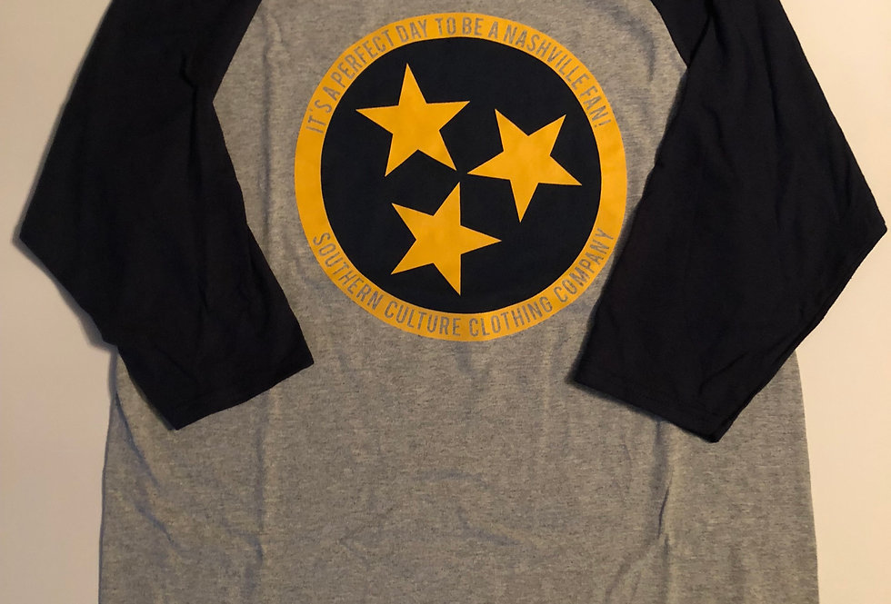 Nashville Hockey/Soccer TriStar, Ladies 3/4 sleeve