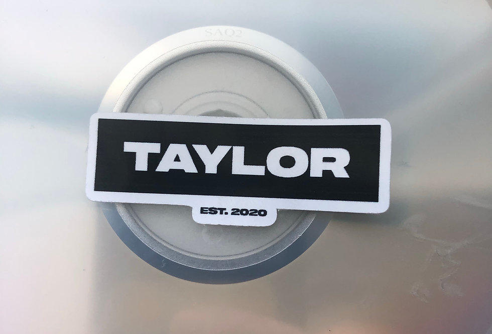 """TAYLOR"" NAMEPLATE STICKER"