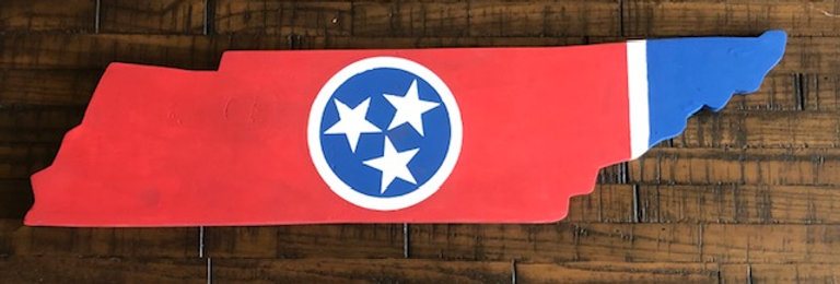 Tennessee state shaped wood sign. Handmade.   Regional delivery only.