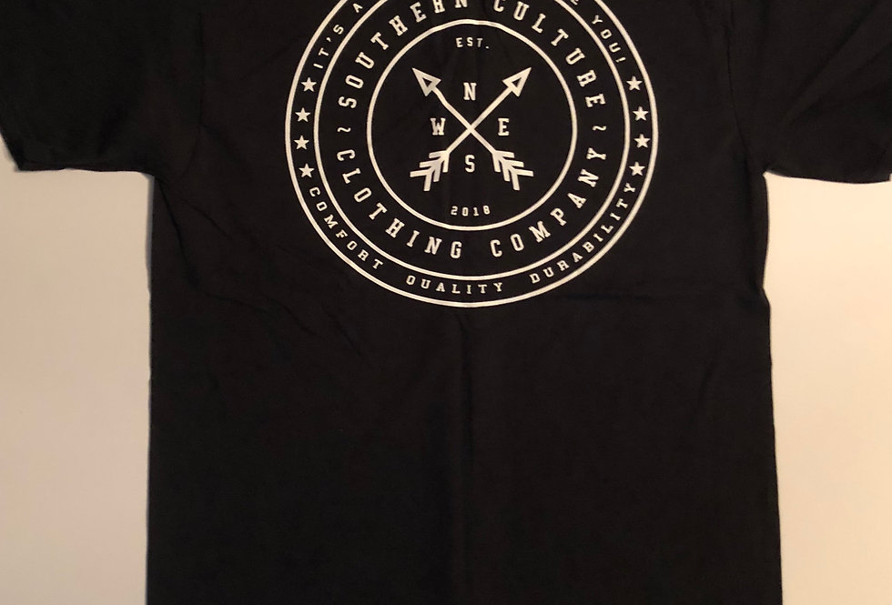 Southern Culture arrow tee front black