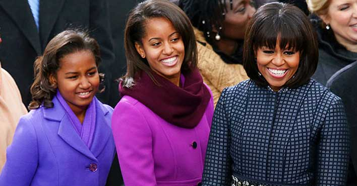 Sasha & Malia Obama, maybe Michelle too!_ ;-)