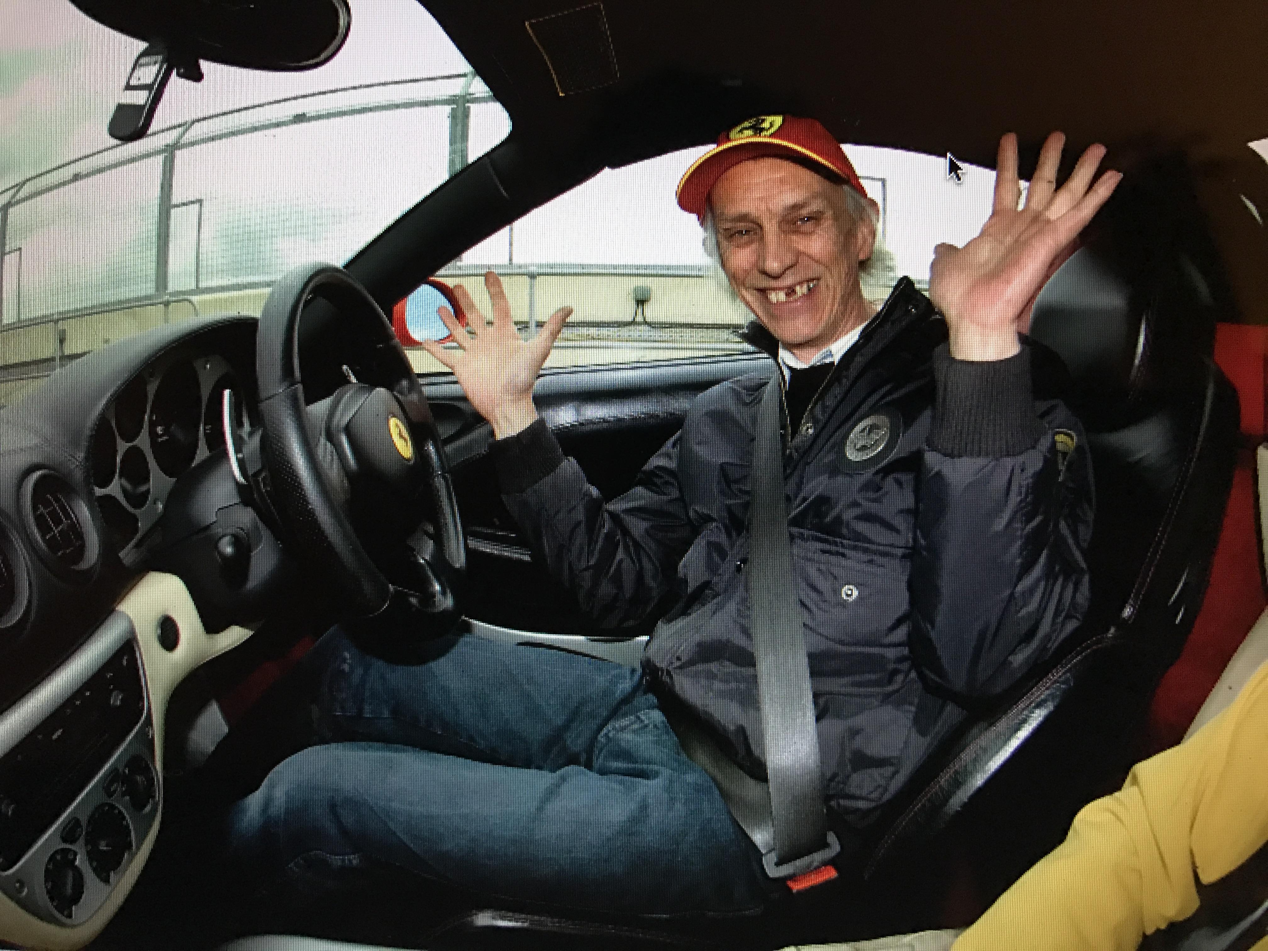 Father enjoying his Ferrari outing!