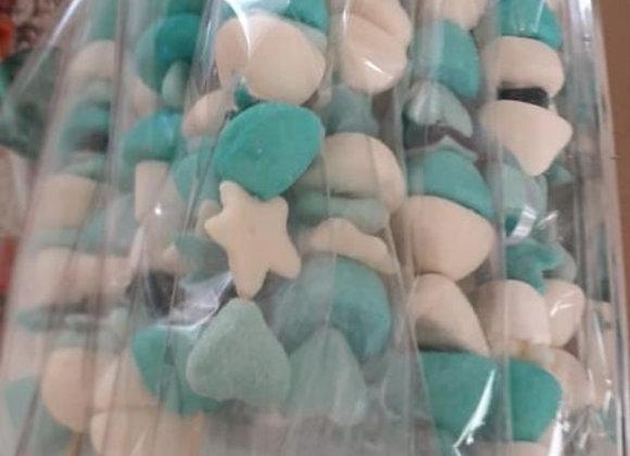 Lot de 15 Brochettes bleu HT
