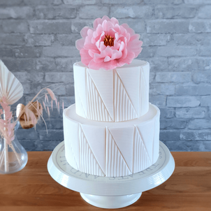 Wedding cake with edible wafer paper flower.png