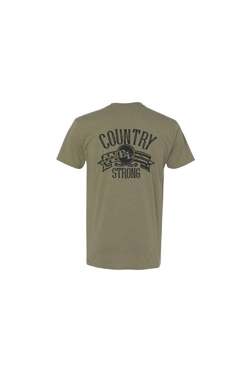 Olive Green Country Strong Tee