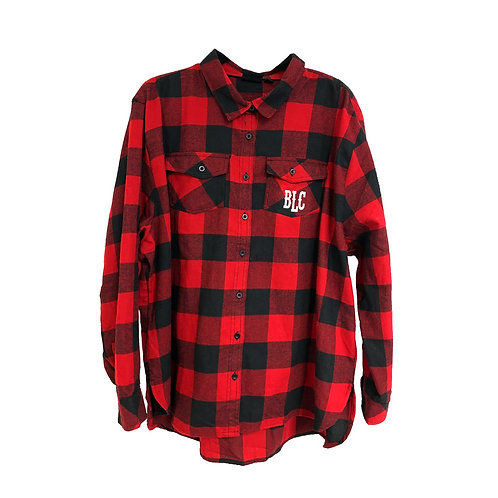 WOMENS 'Made Country Strong' Red/Black Flannel