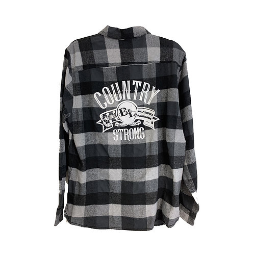 Men's Black/White Flannel