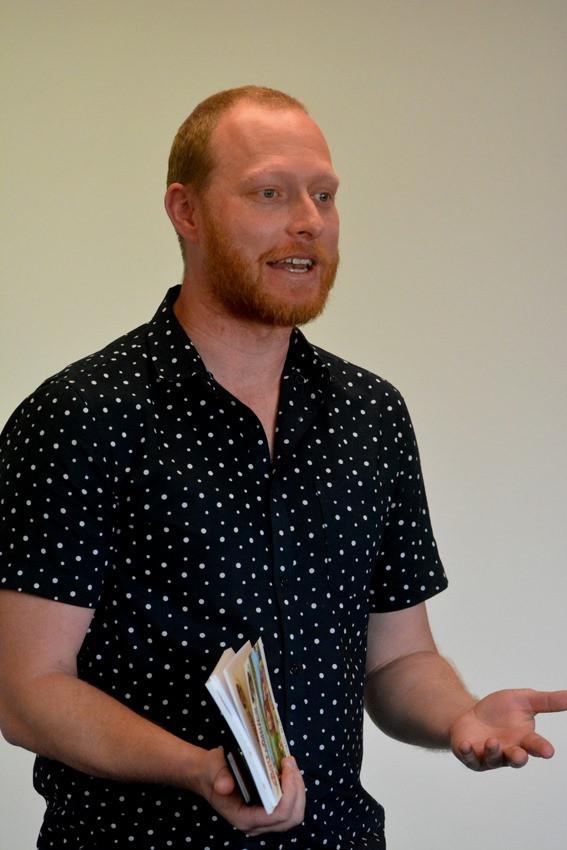 Gabriel Cunnett at the book launch