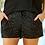 Thumbnail: VIP Status Sequin Drawstring Shorts in Black