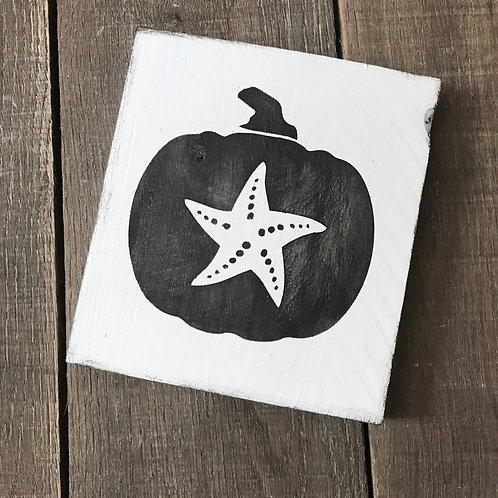 Starfish Pumpkin Sign